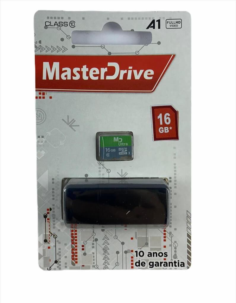 Cartão de Memória 16GB com Adaptador USB MasterDrive