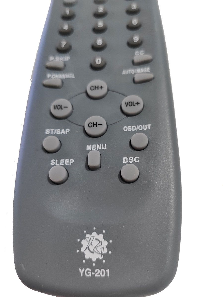 CONTROLE REMOTO TV CCE TUBO YG-201