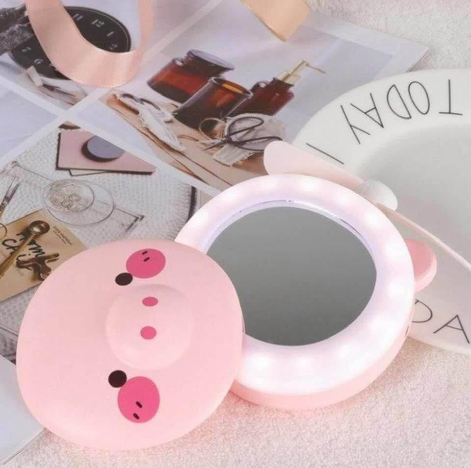 Mini Espelho com Led Porquinho HC Fan
