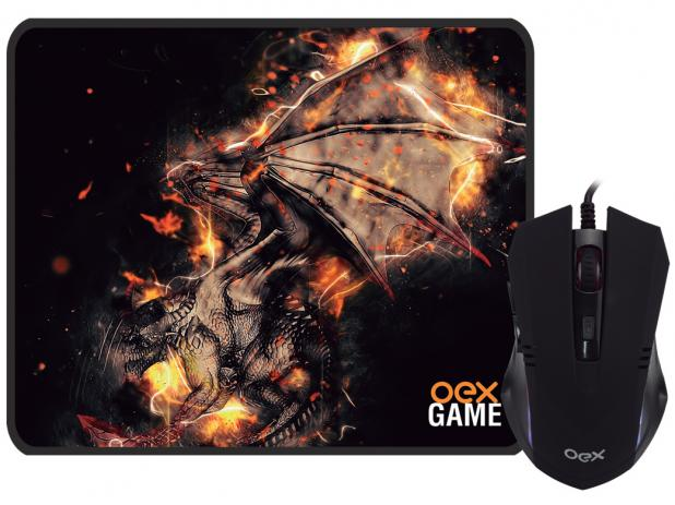 Mouse Gamer 2400 e Mouse Pad MC102 Combo Arena - Oex