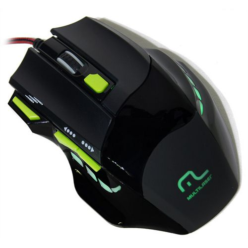 Mouse Gamer Led Verde 2000DPI MO208
