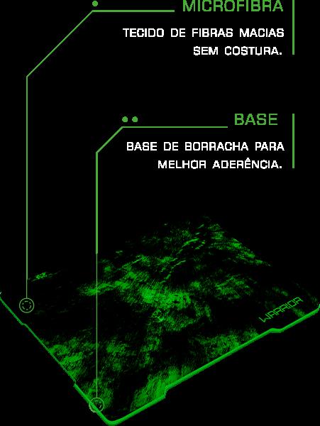 Mouse Pad Warrior Multilaser AC287 Verde