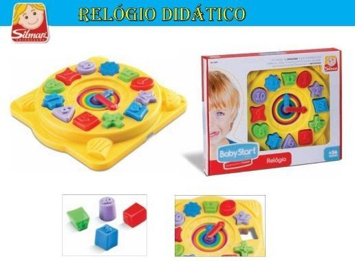 RELÓGIO EDUCATIVO BABY START 9120 SILMAR
