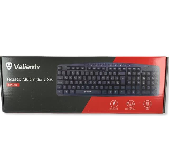 Teclado Multimídia USB KM-204 Valianty