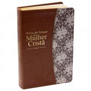 Bíblia de Estudo da Mulher Cristã | ARC | Capa Couro Sintético Ilustrada