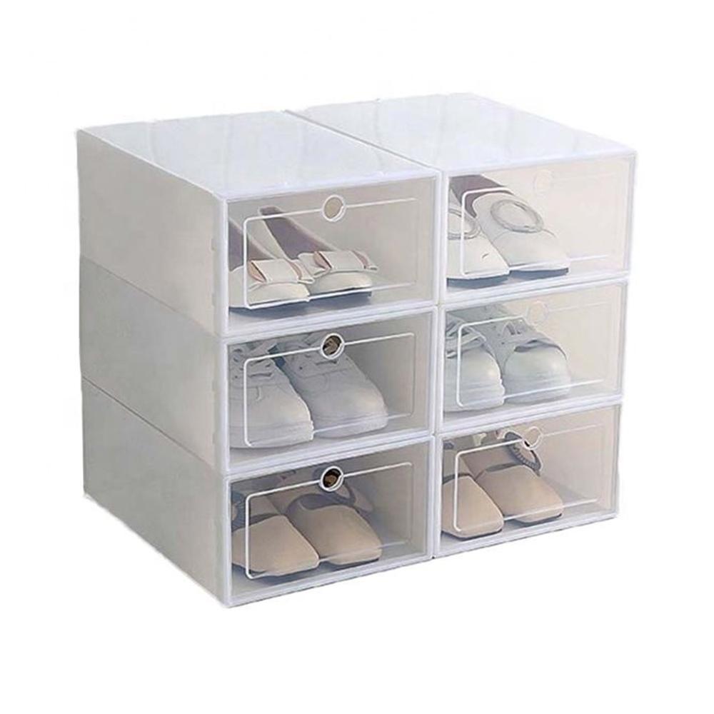 12 Caixas Organizador De Plástico Para Sapato Tênis AM-3002-12