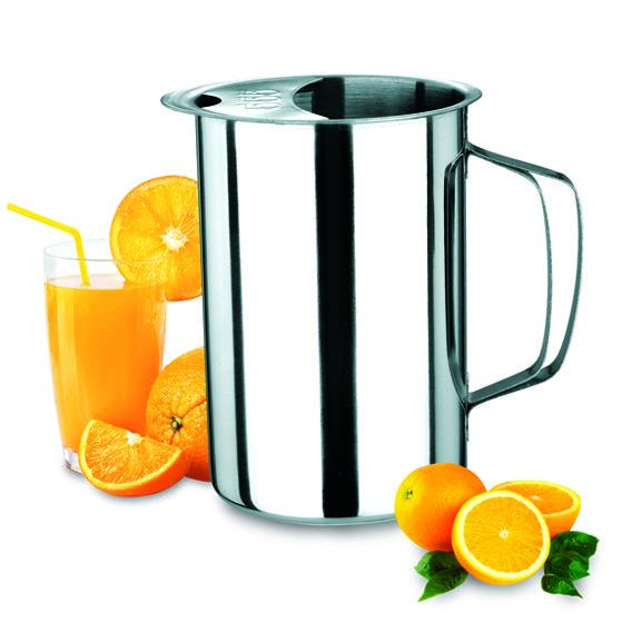 2 Jarras para servir sucos leite e outros em aço Inox  1,8 Litros  Ke Home 6018-2