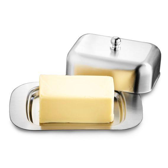 2 Manteigueiras Luxo em aço Inox Ke Home IR3208KH-2