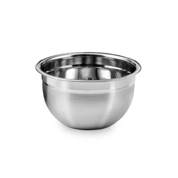 3 Tigelas Mixing Bowl Em Aço Inox 18 Cm Pratica e Durável Ke Home 3116-18-3