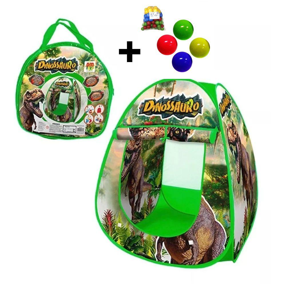 Barraca Toca Infantil do Dinossauro + 50 Bolinhas