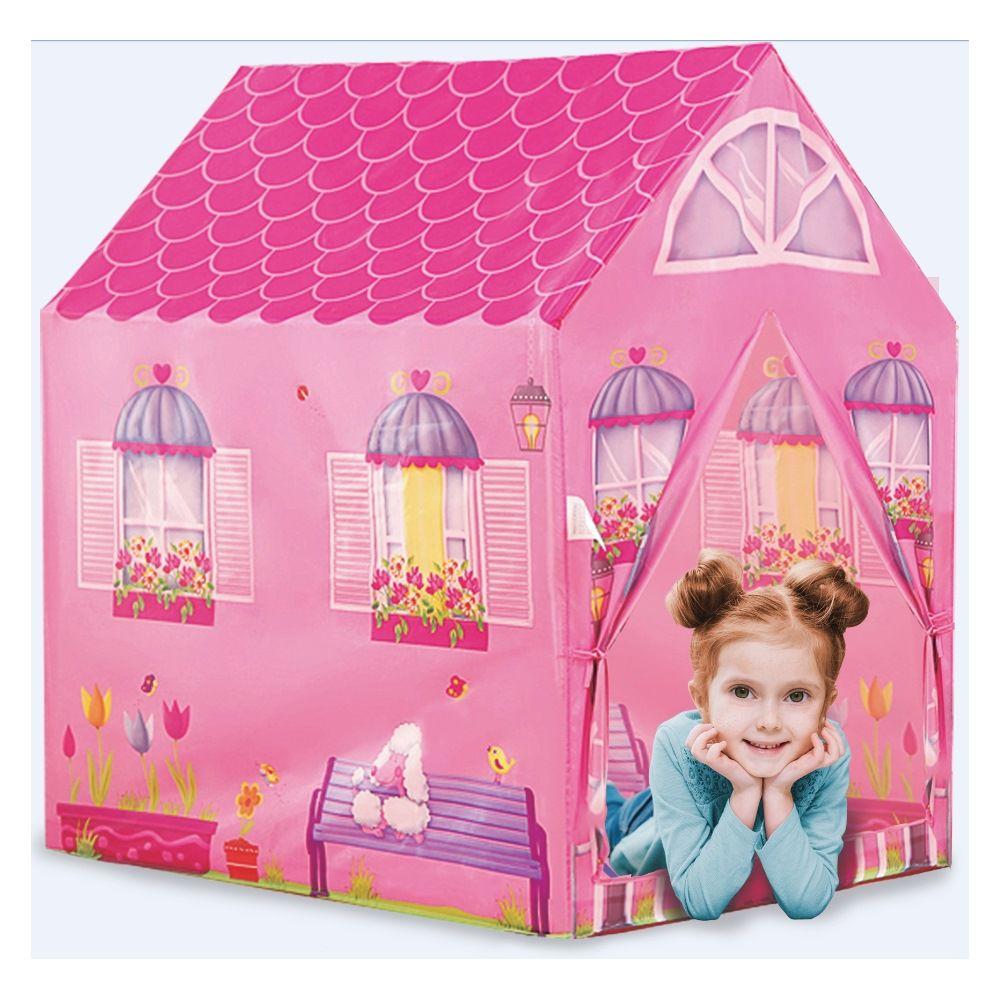 Casinha Barraca Rosa infantil tenda toca leitura DM Toys DMT5652