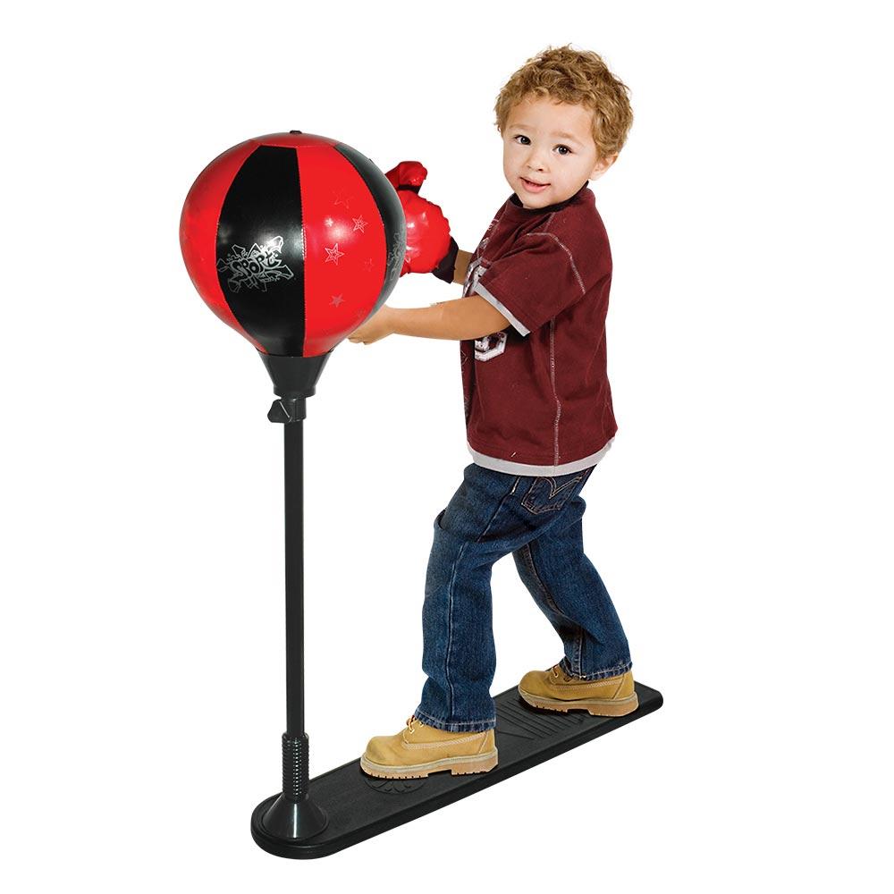 Kit De Boxing Infantil Com Pedestal Bola E Luvas DMT5998