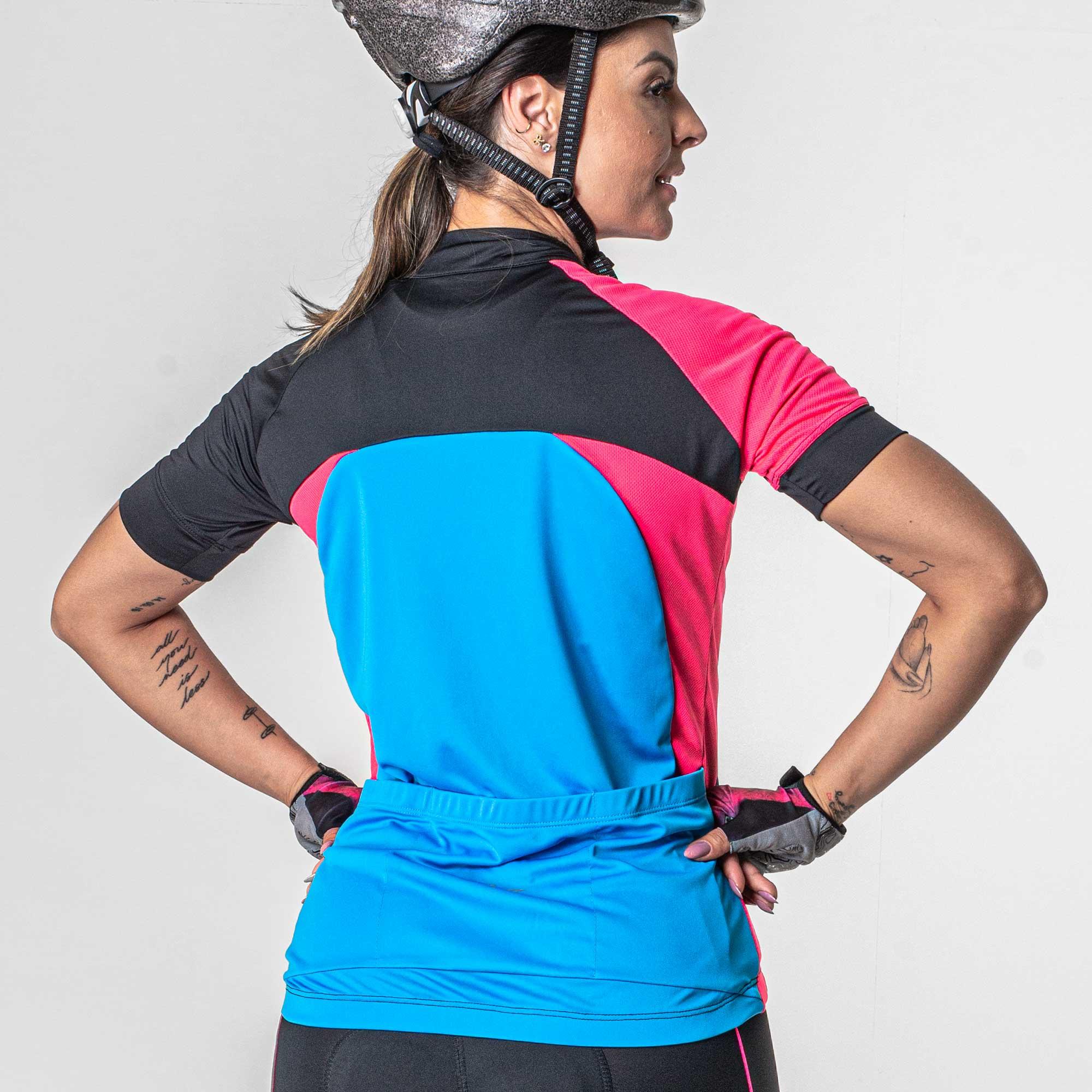 Camisa Ciclismo Feminina Ziper Poker - Original
