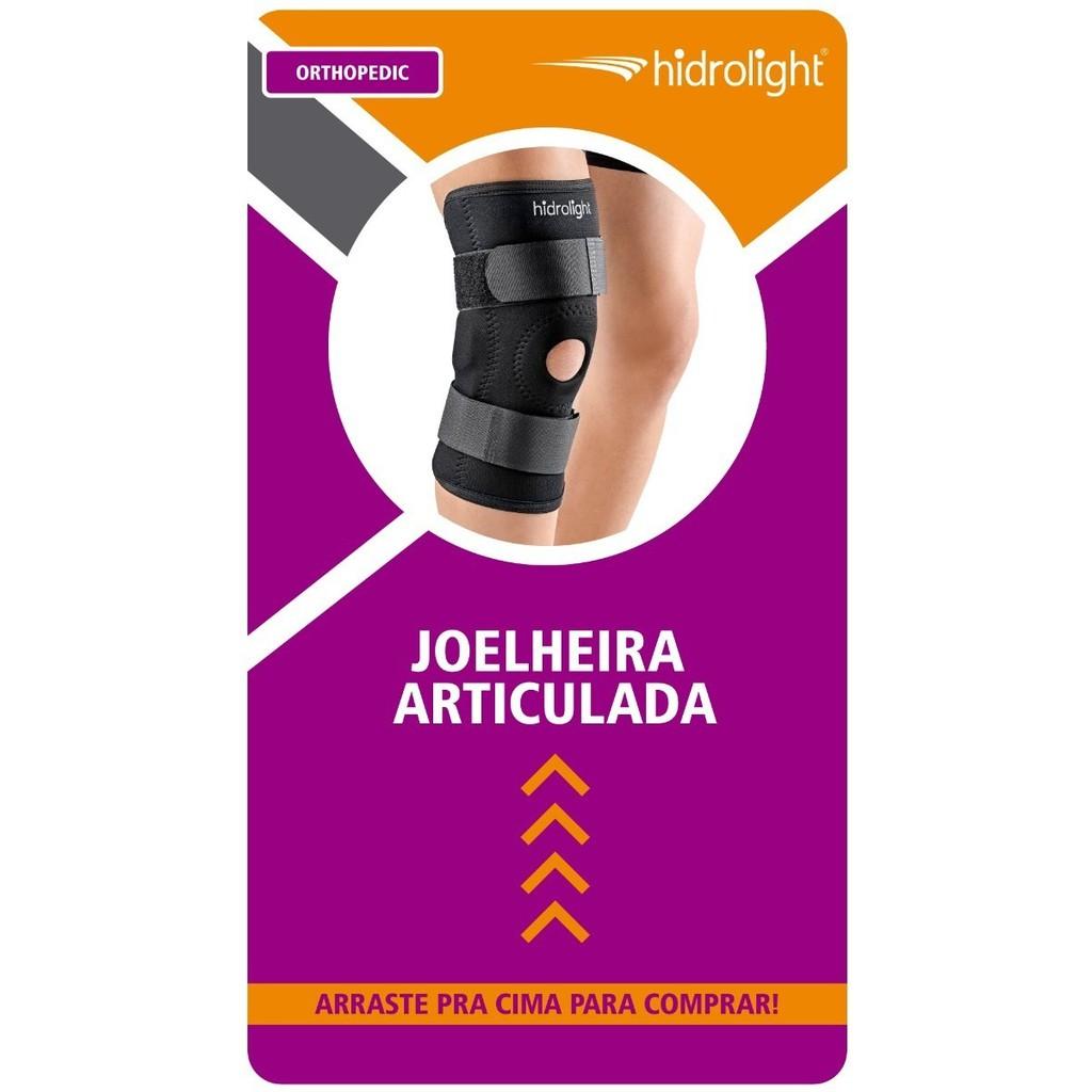 Joelheira Articulada Ajustável Com Reforço Patelar Hidrolight