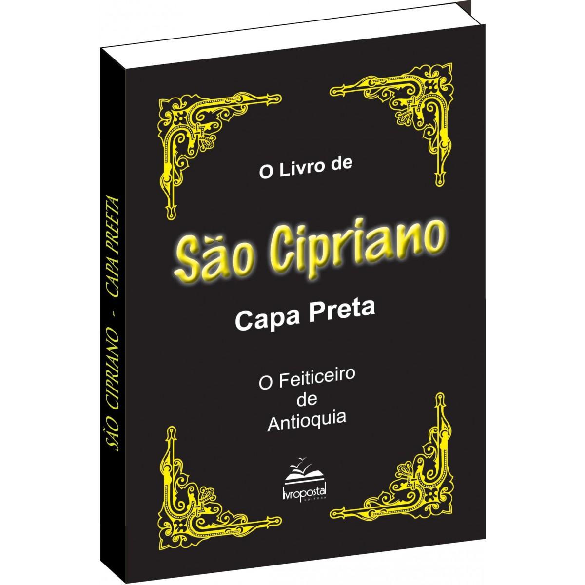 Livro de São Cipriano  Capa Preta  - Livropostal Editora