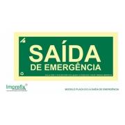 Placa Rota De Fuga Saída S12 Bombeiros - Saída De Emergência