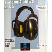 Protetor Auditivo ARS-N preto com amarelo