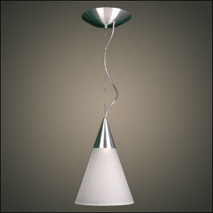 Pendente Itamonte  5090/1 - Vidro Cone Escovado  - Giamar