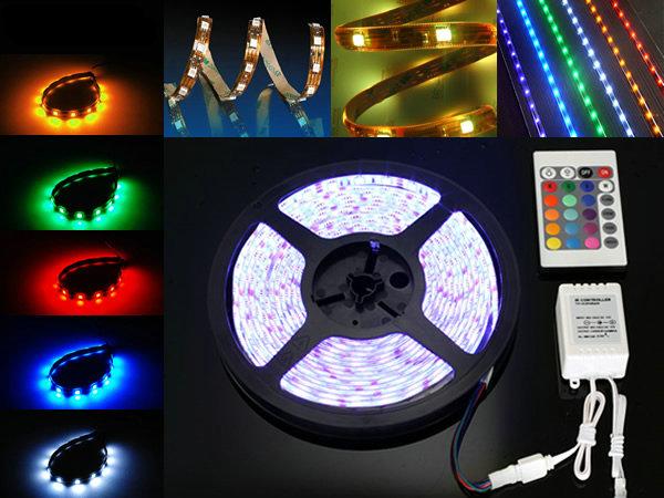Fita LED RGB 5050 36W C/ 5 Metros IP65 - C/ Controle Remoto  - Giamar