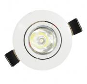 Spot LED Mini Embutir Branco Redondo 1W  - PREÇO IMBATÍVEL !!!