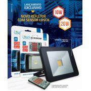 Refletor LED C/ SENSOR e CONTROLE REMOTO