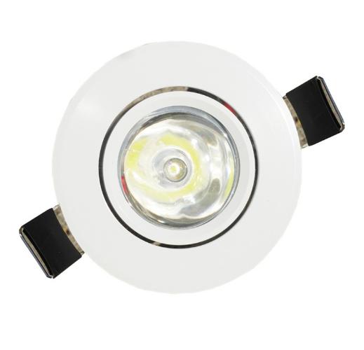 Spot LED Mini Embutir Branco Redondo 1W  - PREÇO IMBATÍVEL !!!  - Giamar