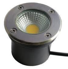Luminaria Embutir no Solo INOX LED 5W  - Giamar
