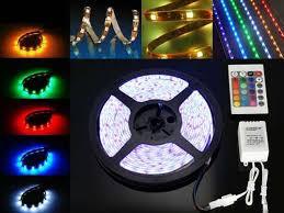 Fita LED RGB 12V 5050 72W C/ 5 Metros IP65 - C/ Controle Remoto  - Giamar