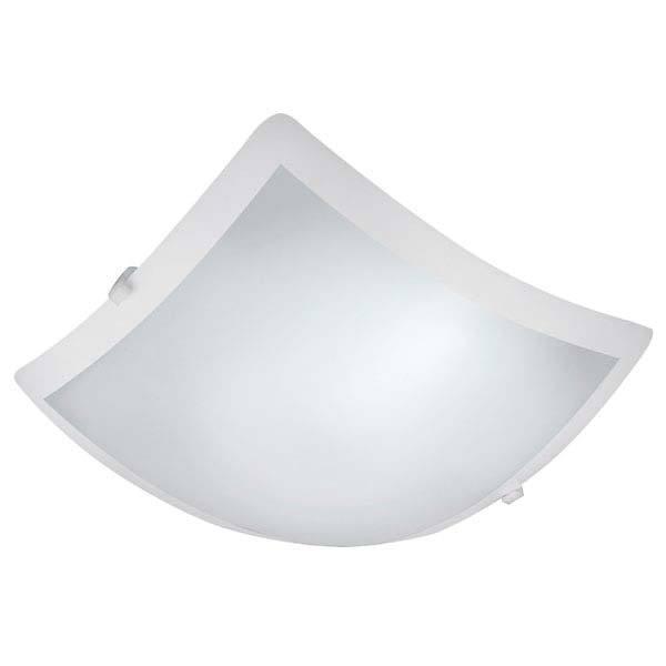 Plafon LED New Clean Quadrado Vidro Fosco 10W 127V  - Giamar