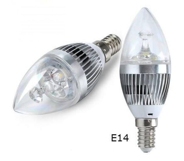 Lâmpada LED Vela 3W Biv Cristal  - Giamar