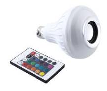 Caixa De Som Bluetooth Lâmpada Multi LED Wj-L2  - Giamar