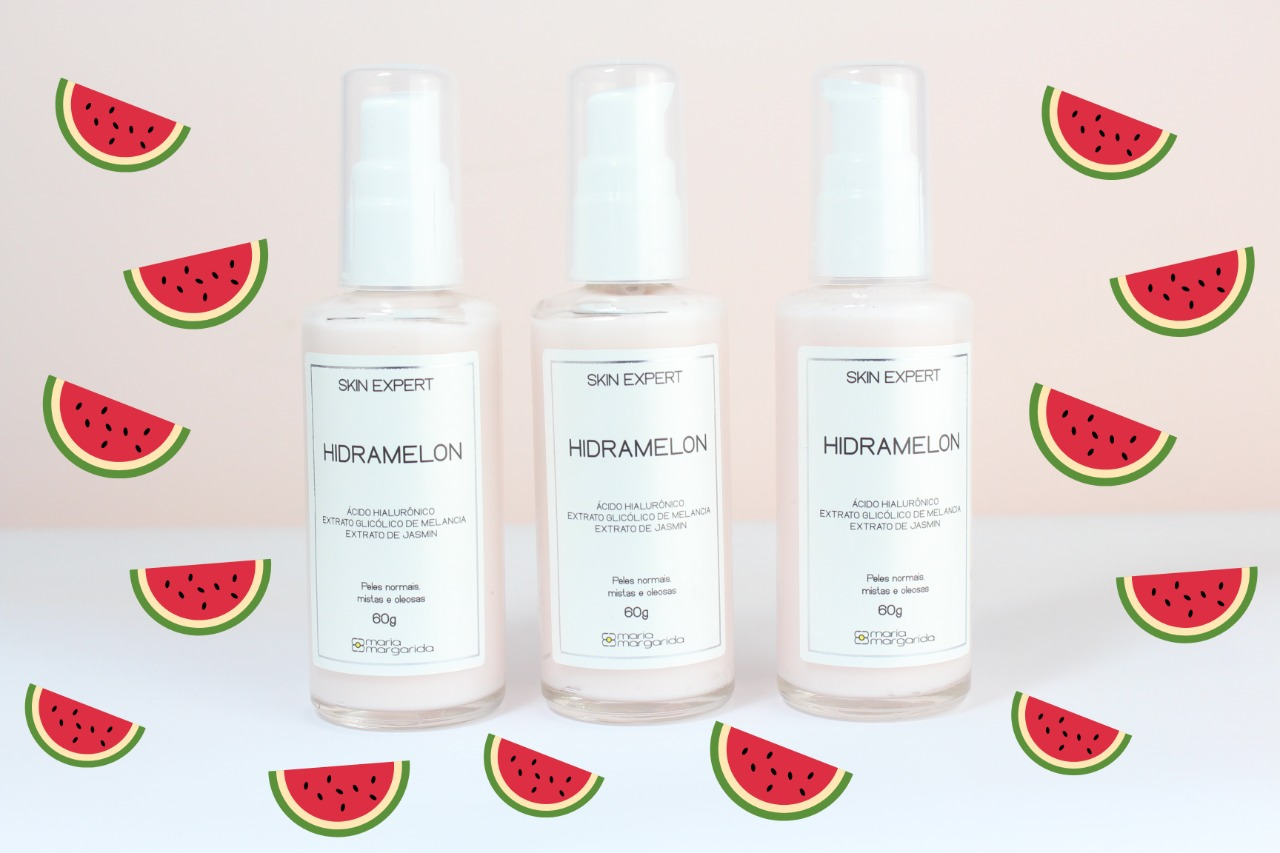 Hidra Melon - Hidratante Pele Mista e Oleosa - Extrato Glicólico de Melancia