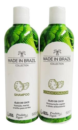 Kit Óleo De Coco Made In Brazil 2X500ml