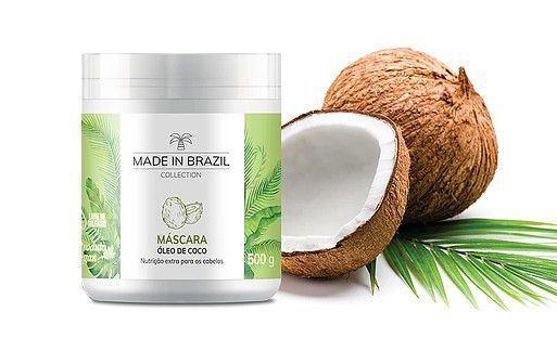 Máscara Óleo de Coco Made In Brazil Collection 500g