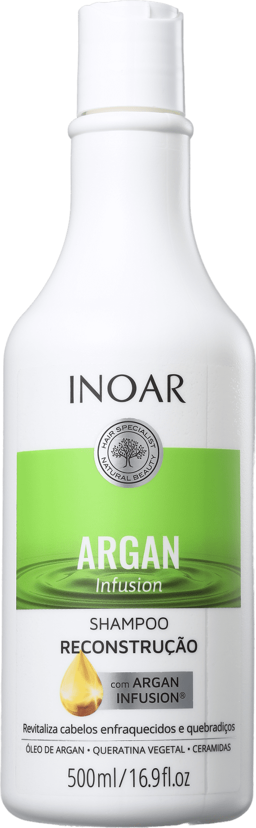 Shampoo Argan Infusion Reconstrução 500ml - Inoar