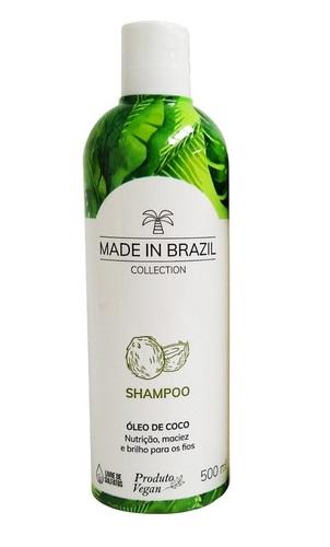 Shampoo Óleo De Coco Made In Brazil 500ml