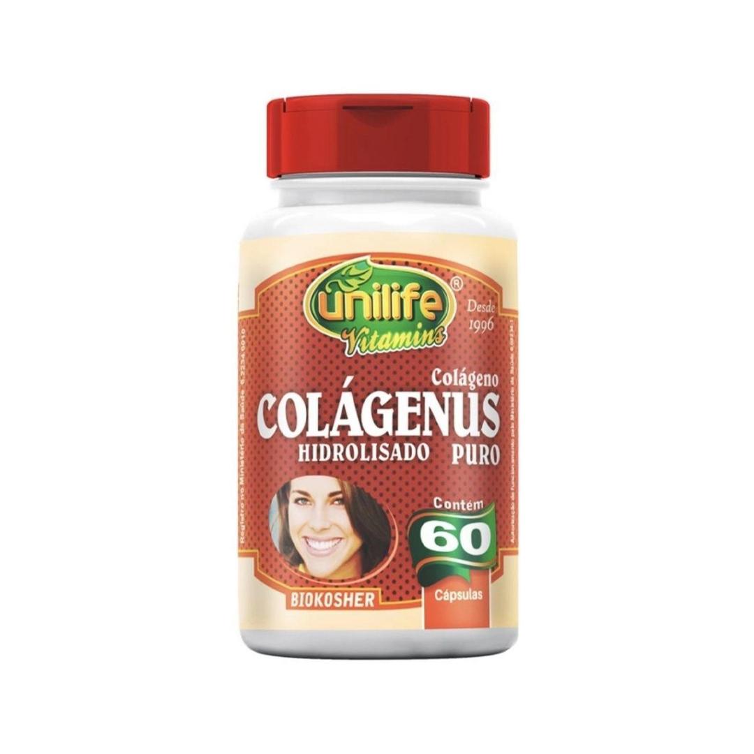Colágeno Colágenus Hidrolisado Puro 60 Cápsulas Unilife