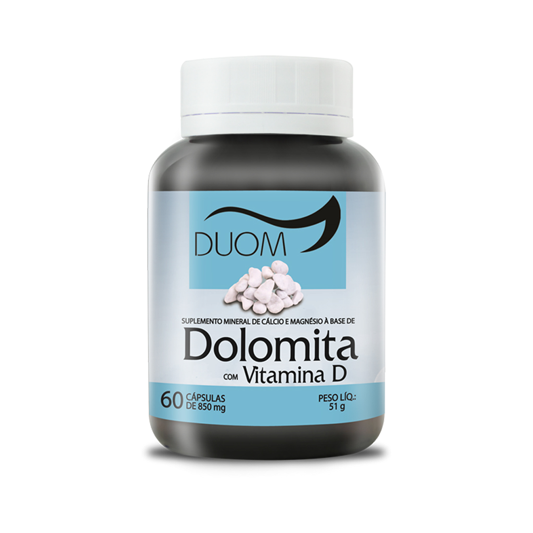 Dolomita com Vitamina D3 60 Cápsulas Duom