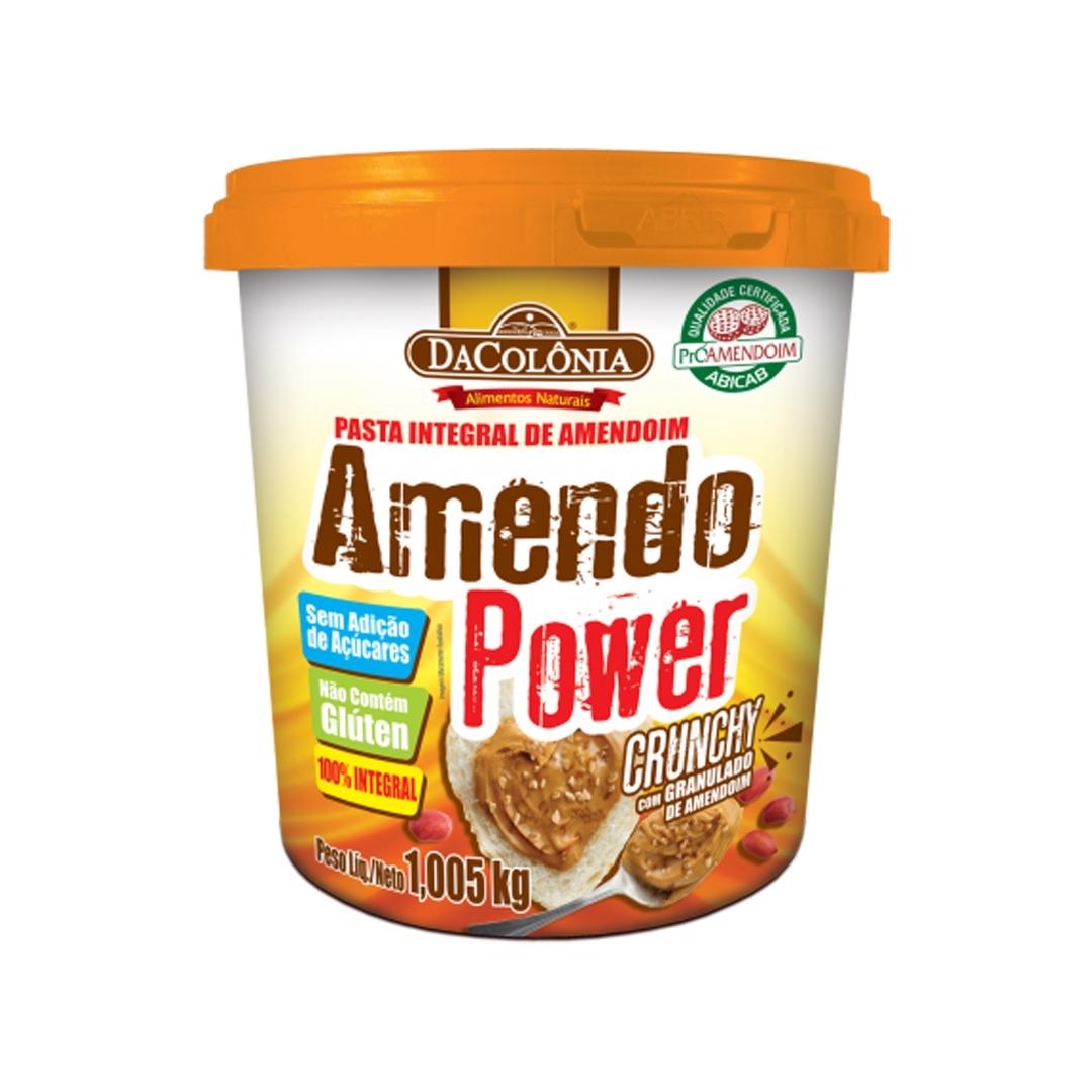 Pasta de Amendoim Amendo Power Crunchy 1,005kg