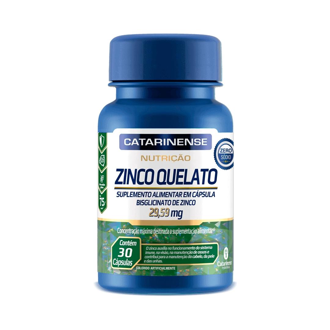 Zinco Quelato 30 Cápsulas Catarinense Pharma