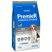 Ração Premier Ambientes Internos Light Cães Adultos Frango e Salmão - 12kg