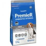 Ração Premier Pet Ambientes Internos Cães Adultos Light - 2,5kg