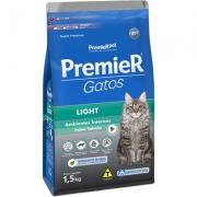 Ração Premier Pet Gatos Ambientes Internos Light Adultos Salmão - 1,5Kg