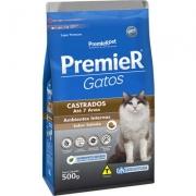 Ração Premier Pet Gatos Castrados até 7 anos Ambientes Internos Salmão - 500gr