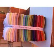 Kit de feltro 30 cores - Fuxicos e Fricotes