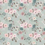 Tecido Digital Floral Bonecas Retrô