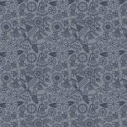 Tecido Floral Tomtom Bali Azul