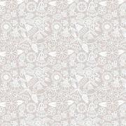 Tecido Floral Tomtom Bali Bege