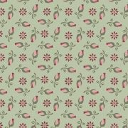 Tecido Mini Rosas Fundo Verde