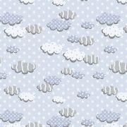 Tecido Nuvens Azul